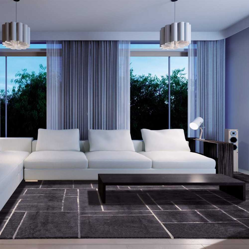 tapis de luxe contemporain gris anthracite bali par angelo. Black Bedroom Furniture Sets. Home Design Ideas