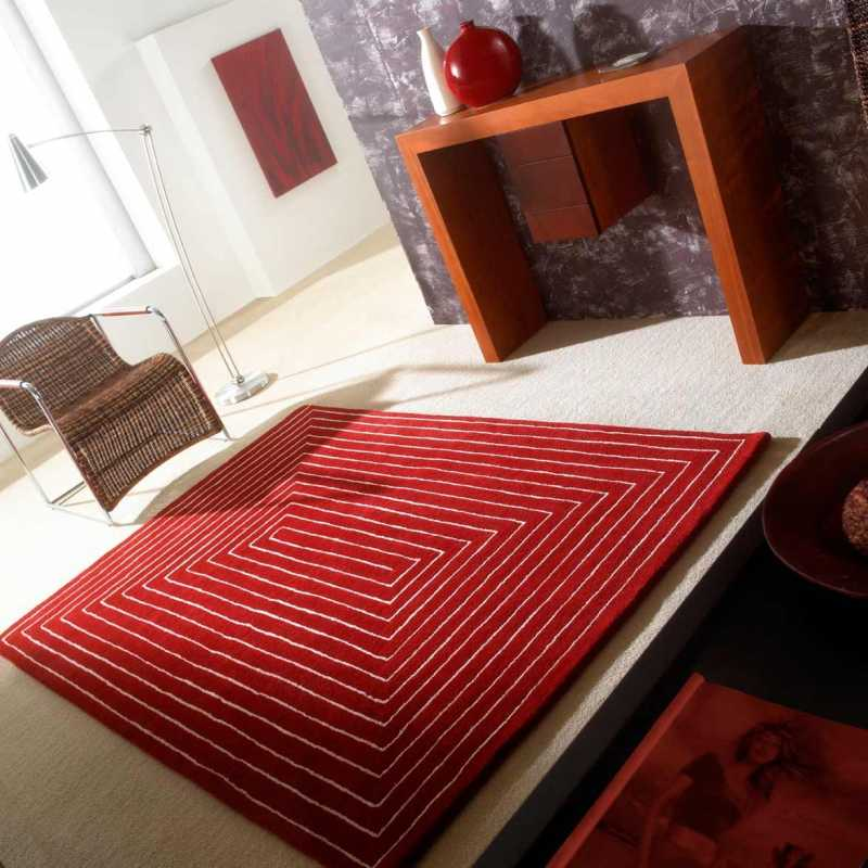 tapis de luxe design rouge tridimensional par carving. Black Bedroom Furniture Sets. Home Design Ideas