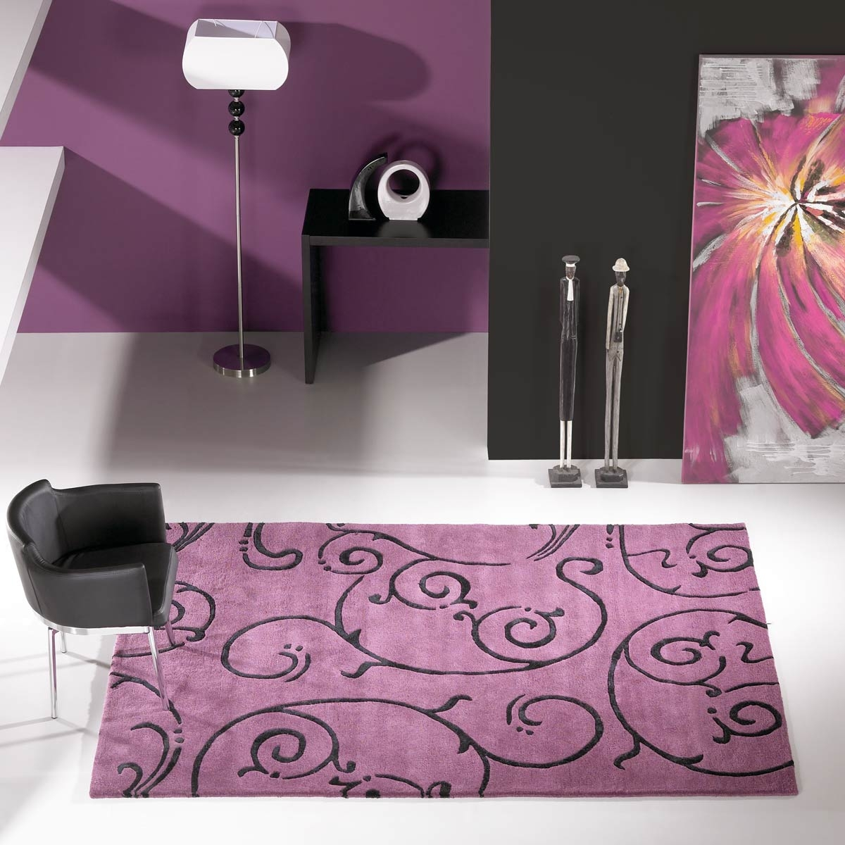 tapis salon gris violet avec des id es int ressantes pour la conception de la chambre. Black Bedroom Furniture Sets. Home Design Ideas