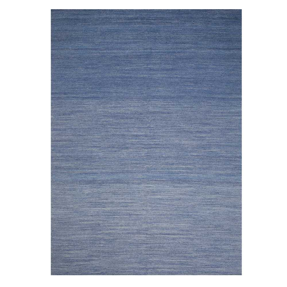 tapis tr s fin bleu en laine par ligne pure. Black Bedroom Furniture Sets. Home Design Ideas