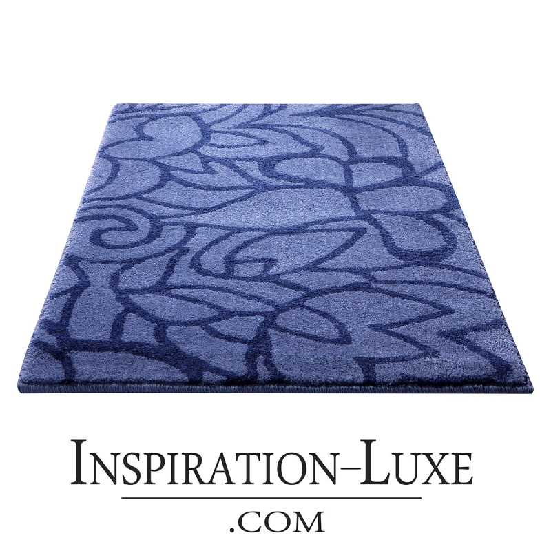 tapis de salle de bain haut de gamme bleu violet. Black Bedroom Furniture Sets. Home Design Ideas