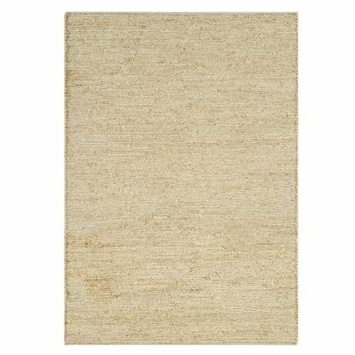 Tapis naturel en jute beige clair tiss la main Grand tapis clair