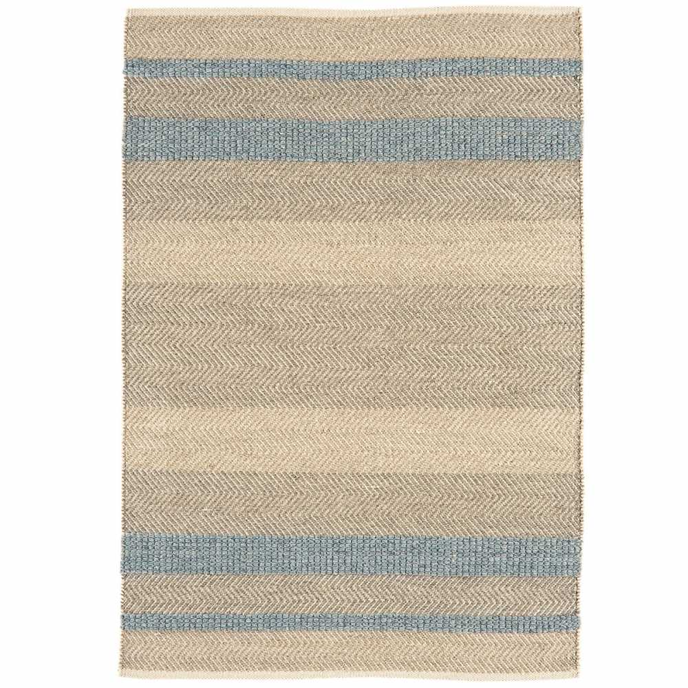 tapis moderne ray en laine coton et viscose bleu ciel gris et beige. Black Bedroom Furniture Sets. Home Design Ideas