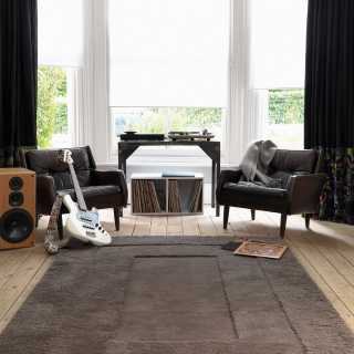 tapis de luxe design noir et blanc simbols black par carving. Black Bedroom Furniture Sets. Home Design Ideas