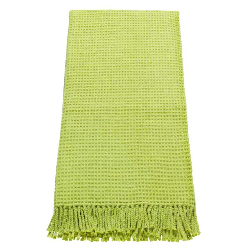 Plaid contemporain vert anis l ger 140 x 180 cm par esprit for Plaid contemporain
