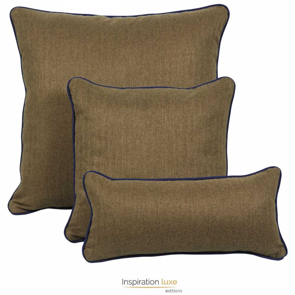 coussin design uni marron carr ou rectangulaire 3 tailles disponibles. Black Bedroom Furniture Sets. Home Design Ideas