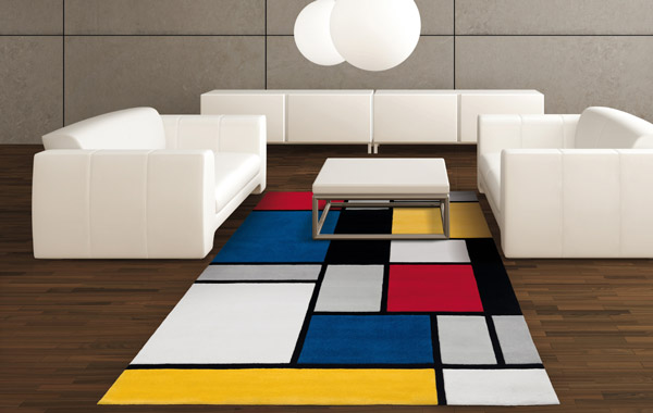 Tapis de luxe design multicolore Coloured Cubes par Arte Espina