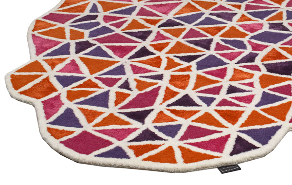 Tapis de luxe design multicolore Paris par Angelo