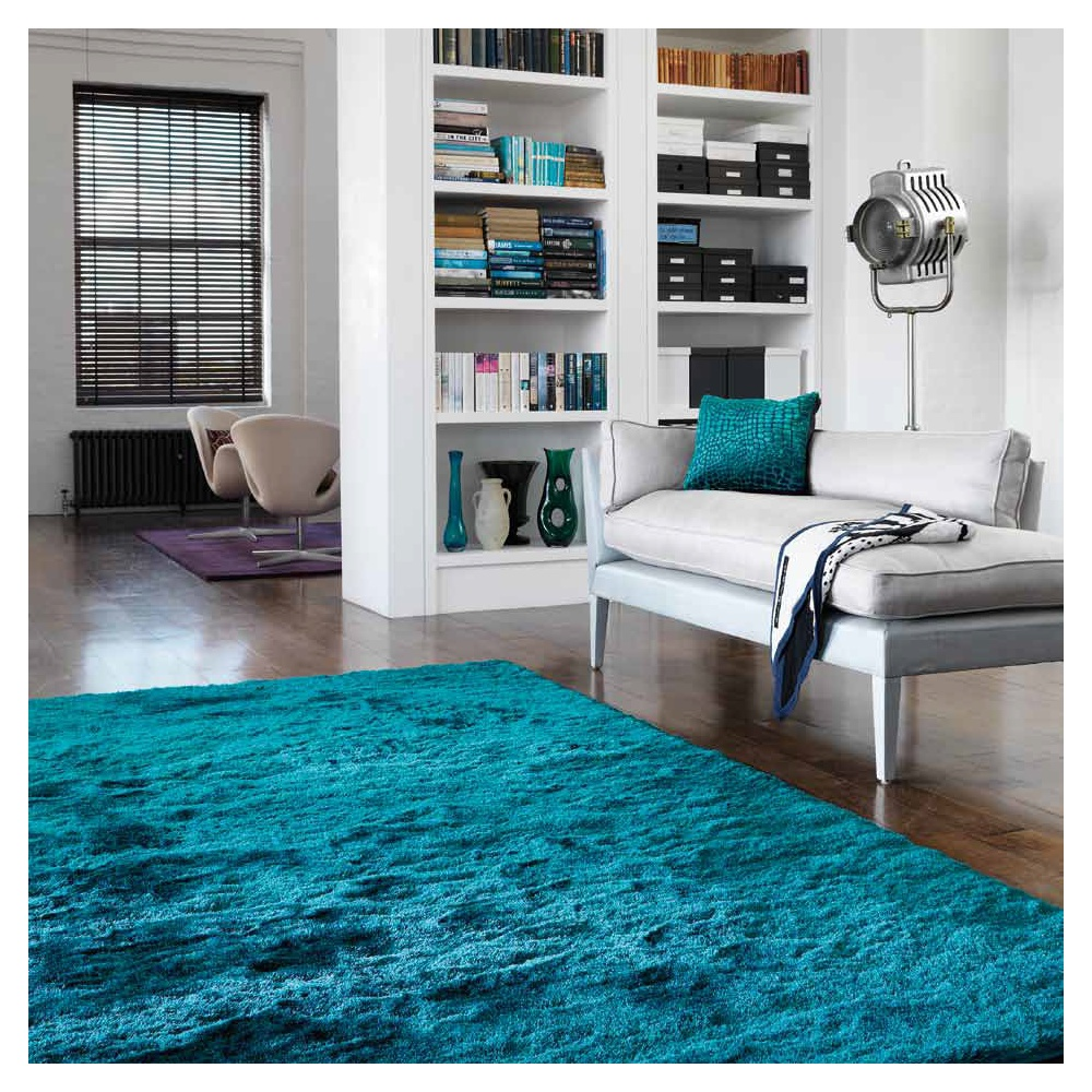 un tapis bleu pour quelle ambiance blog inspiration luxe. Black Bedroom Furniture Sets. Home Design Ideas