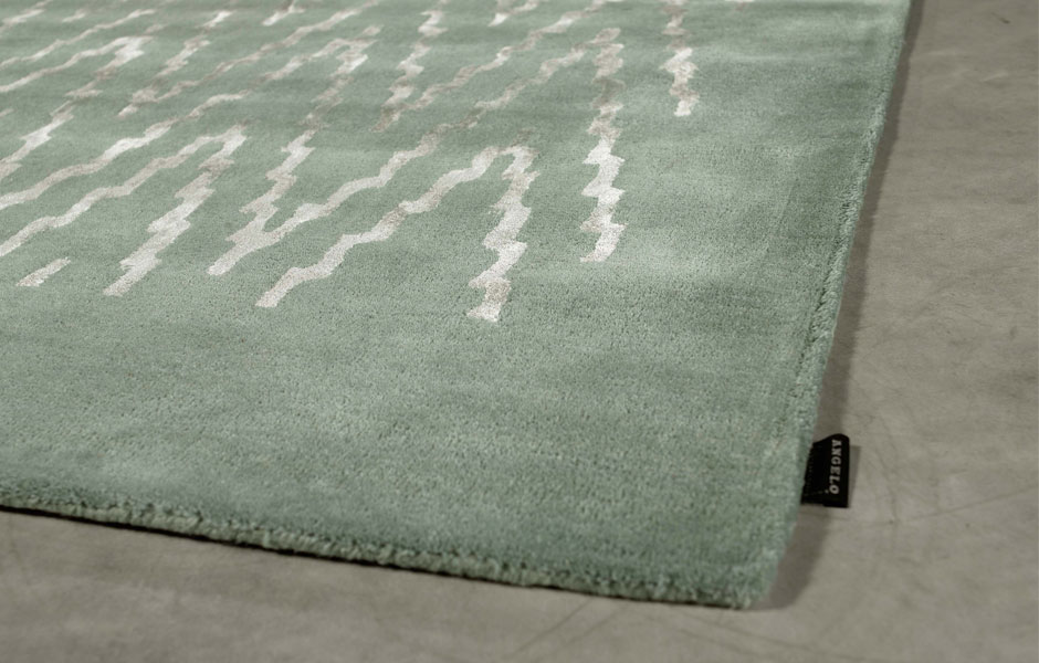 tapis en laine et viscose paris ikat vert par angelo 170 x 240 cm. Black Bedroom Furniture Sets. Home Design Ideas