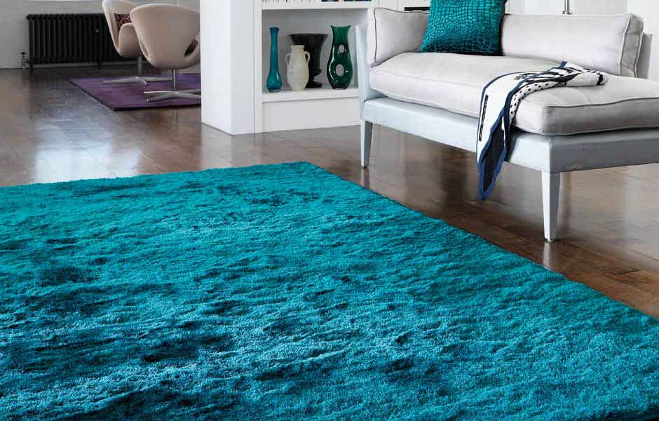 tapis de luxe bleu turquoise whisper teal par joseph lebon. Black Bedroom Furniture Sets. Home Design Ideas