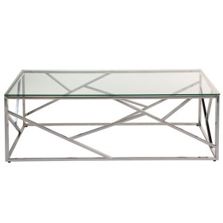 Table basse en verre trempé 120 x 60 cm
