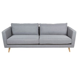 Canapé contemporain en velours gris clair de style scandinave - 3 places