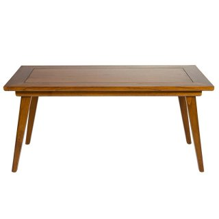 Table basse rectangulaire en bois de mindy 120 x 60 cm style colonial