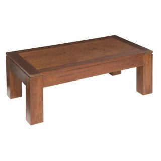 Table basse rectangulaire en bois de mindy 110 x 40 cm