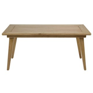 Table basse rectangulaire en bois de mindy style colonial 120 x 60 cm