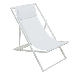 Lot de 2 transat design blanc
