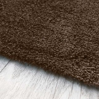 Tapis marron chocolat lavable en machine aspect viscose 180 x 200 cm