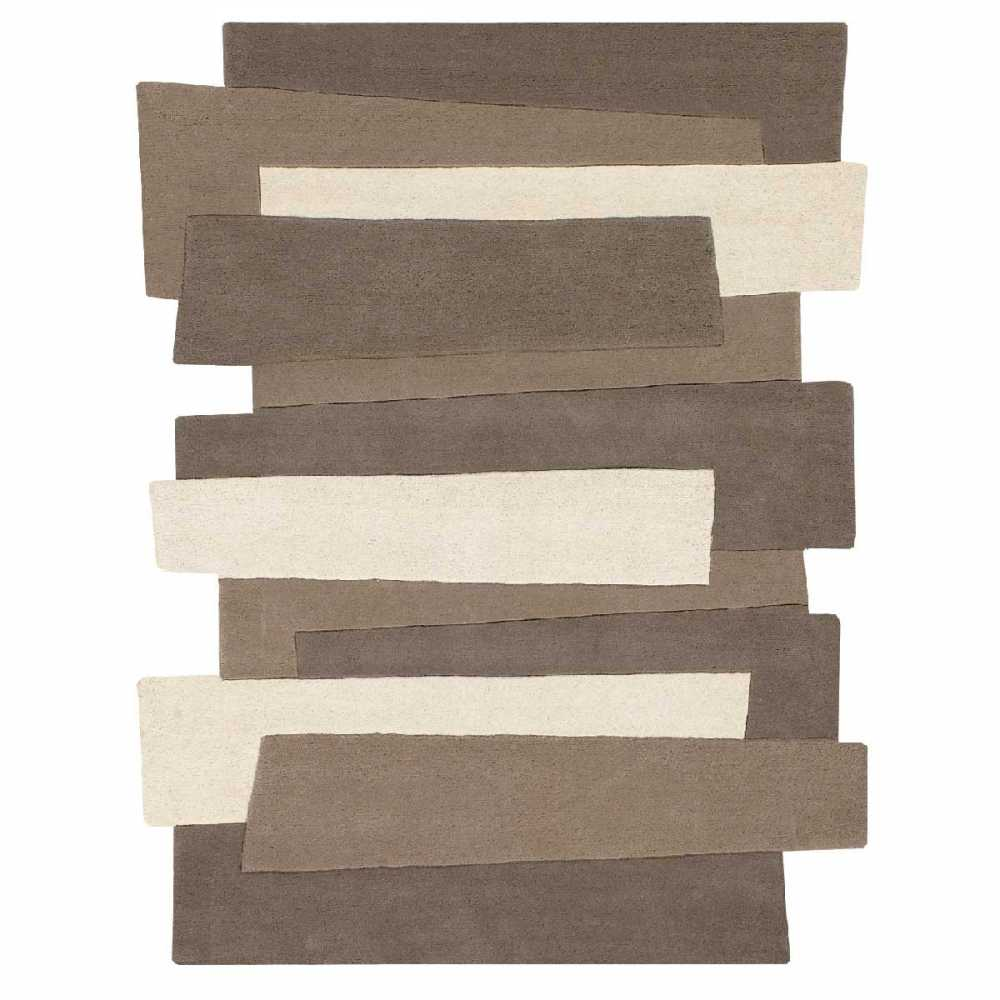 tapis de luxe design fantaisie taupe pebbles rectangulaire par angelo 170 x 240 cm. Black Bedroom Furniture Sets. Home Design Ideas