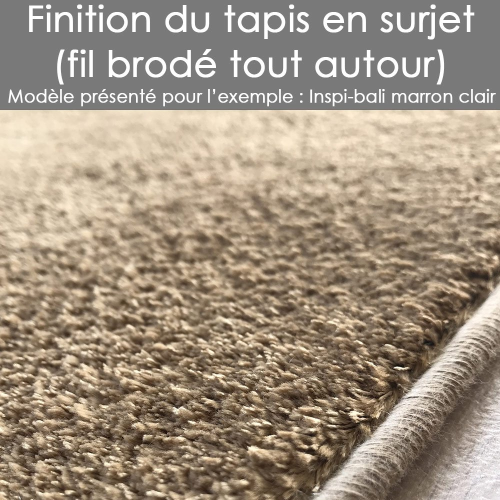 Tapis lavable en machine sur mesure rose aspect viscose