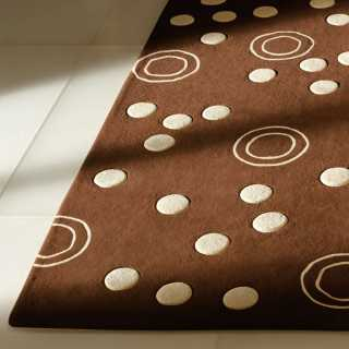 Tapis de luxe design marron Mist par Carving
