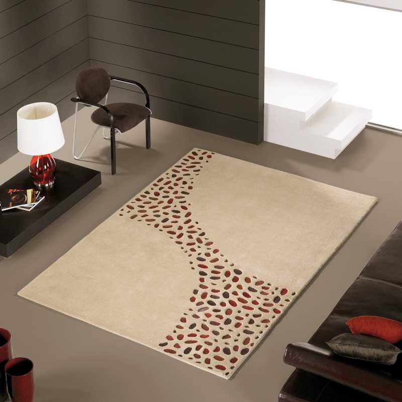 tapis de luxe design beige loxton par carving. Black Bedroom Furniture Sets. Home Design Ideas