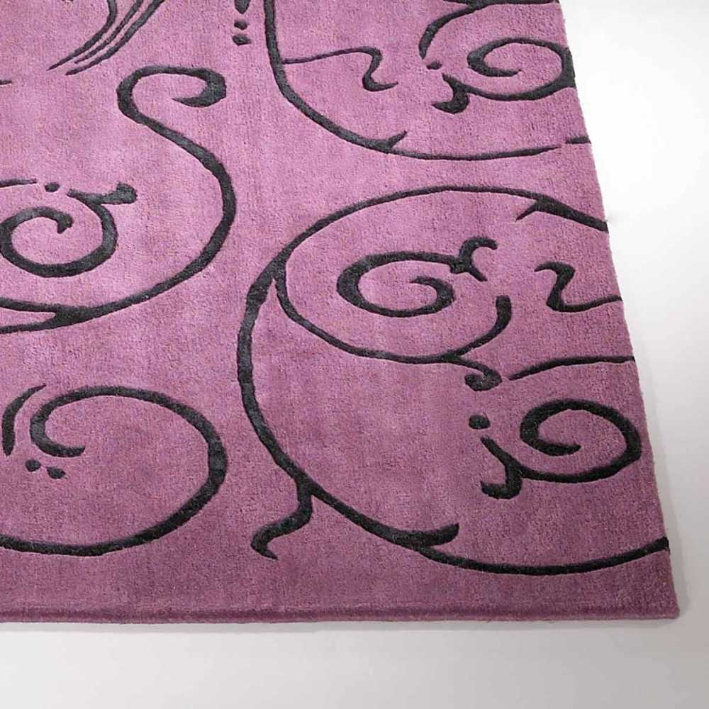 Tapis de luxe contemporain violet clair fedora par carving Beaux tapis contemporains