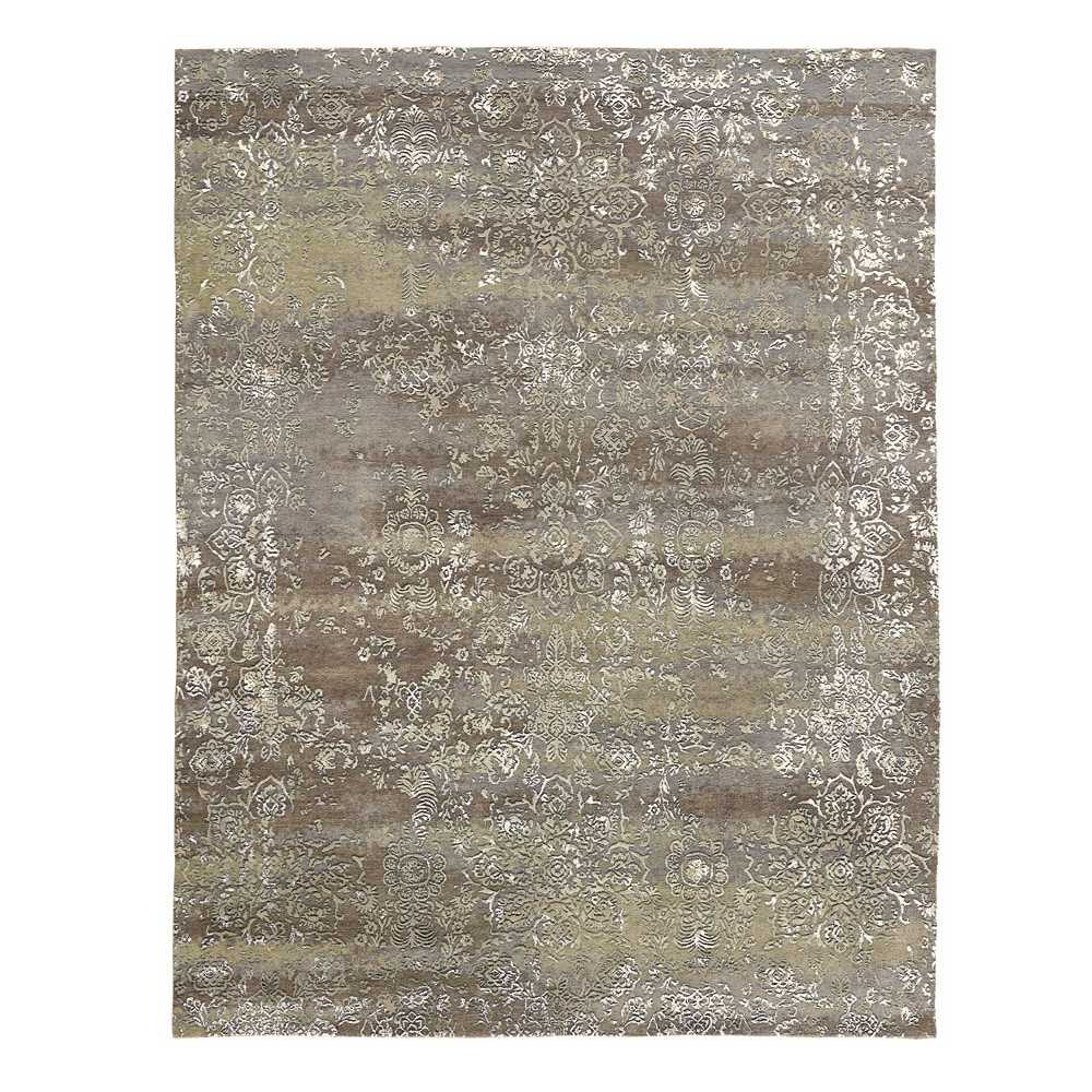 tapis prestige taupe rectangulaire avec motifs en laine et. Black Bedroom Furniture Sets. Home Design Ideas