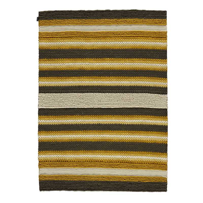 tapis contemporain ray tons jaunes en laine tiss main par angelo. Black Bedroom Furniture Sets. Home Design Ideas