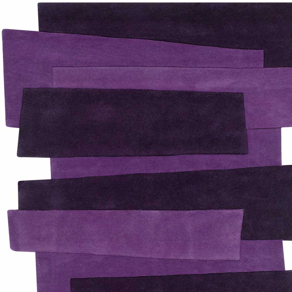 tapis de luxe violet design original pebbles par angelo. Black Bedroom Furniture Sets. Home Design Ideas
