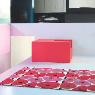 Tapis contemporain rouge et rose Vitalize par Ligne Pure