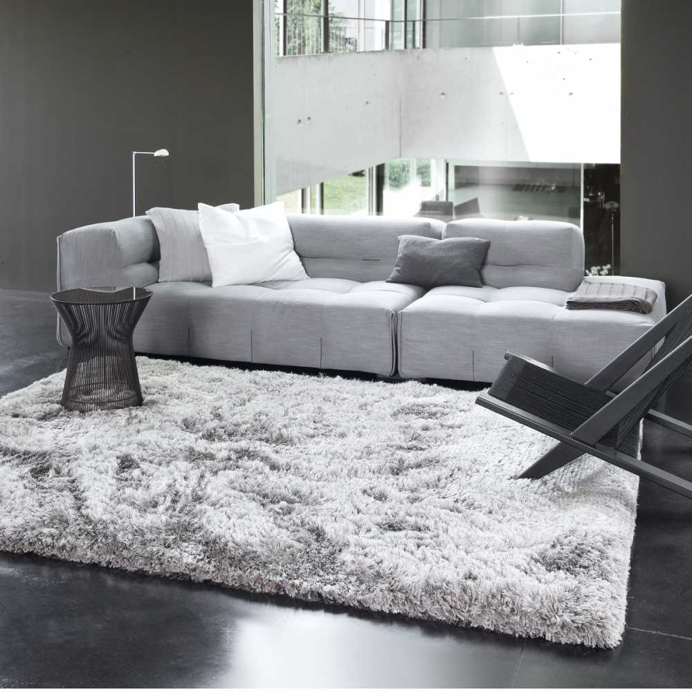tapis sur mesure gris uni shaggy adore par ligne pure. Black Bedroom Furniture Sets. Home Design Ideas