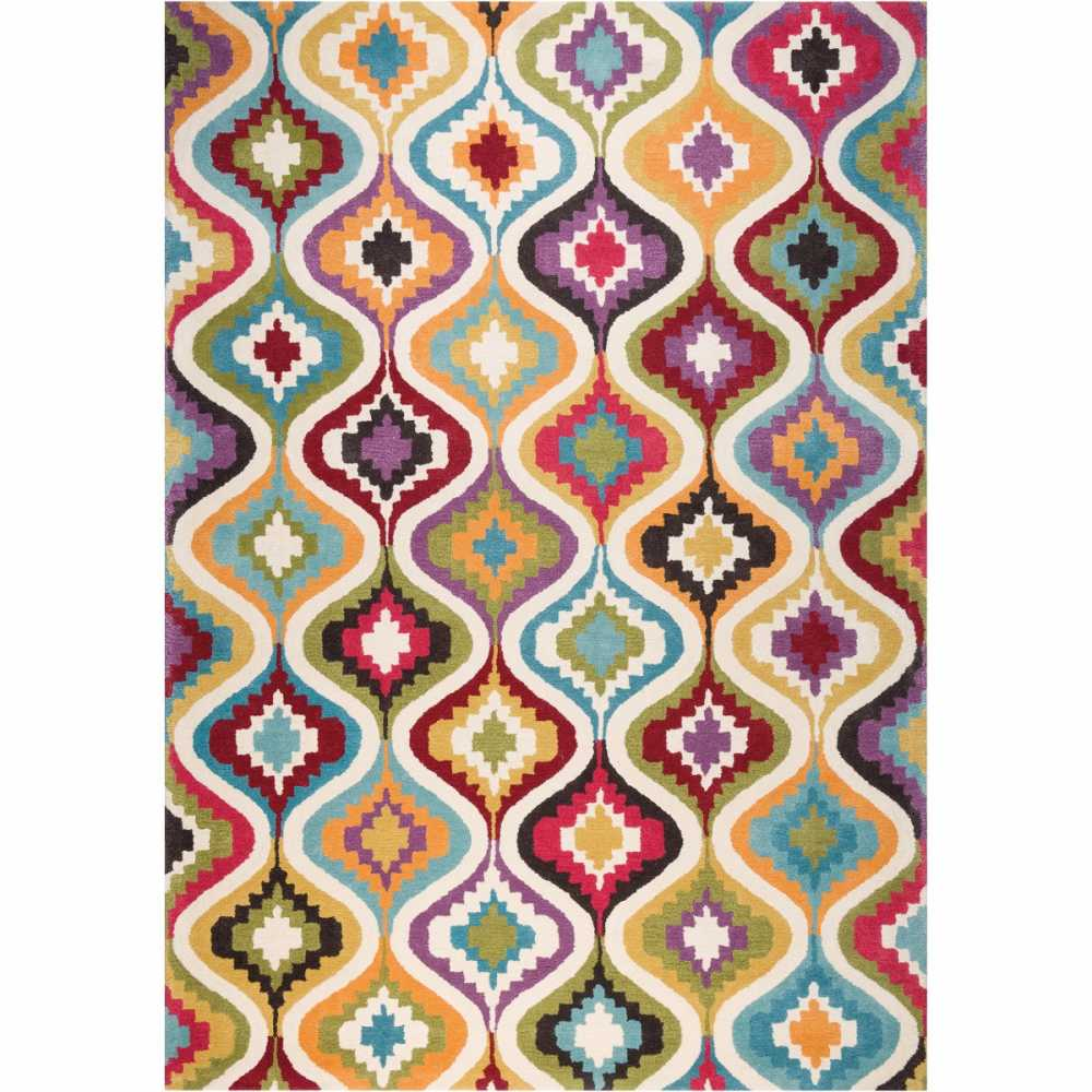 Tapis Sur Mesure Multicolore Love Par Ligne Pure