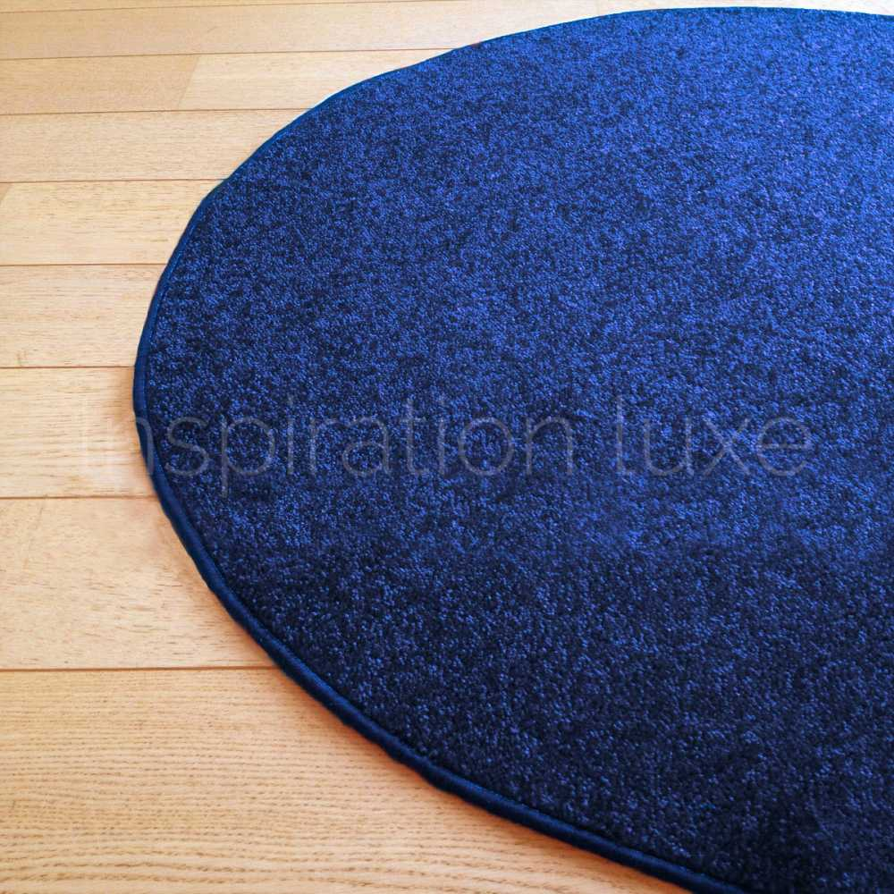 tapis rond sur mesure bleu fin. Black Bedroom Furniture Sets. Home Design Ideas