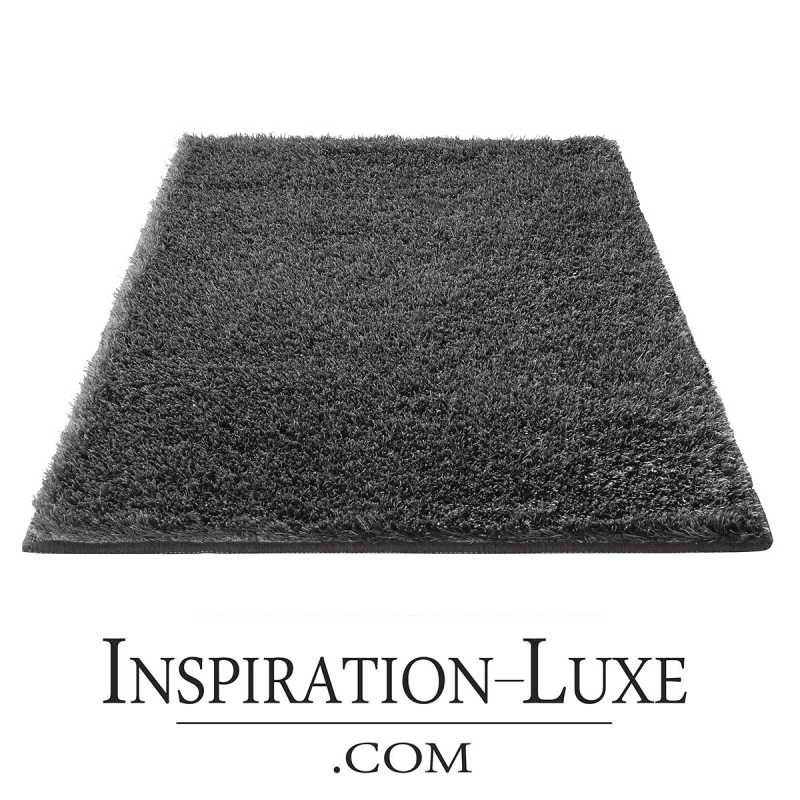 tapis de salle de bain de luxe gris anthracite. Black Bedroom Furniture Sets. Home Design Ideas
