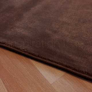 Tapis sur mesure marron en viscose rectangulaire ou carré par Inspiration Luxe Editions
