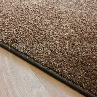 Tapis sur mesure marron rectangulaire ou carré fin
