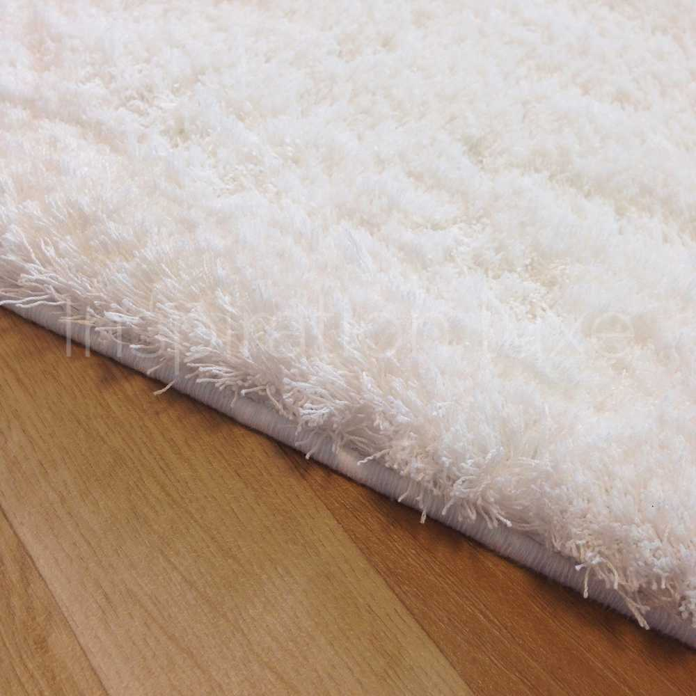 tapis de luxe shaggy moelleux blanc clatant par inspiration luxe. Black Bedroom Furniture Sets. Home Design Ideas
