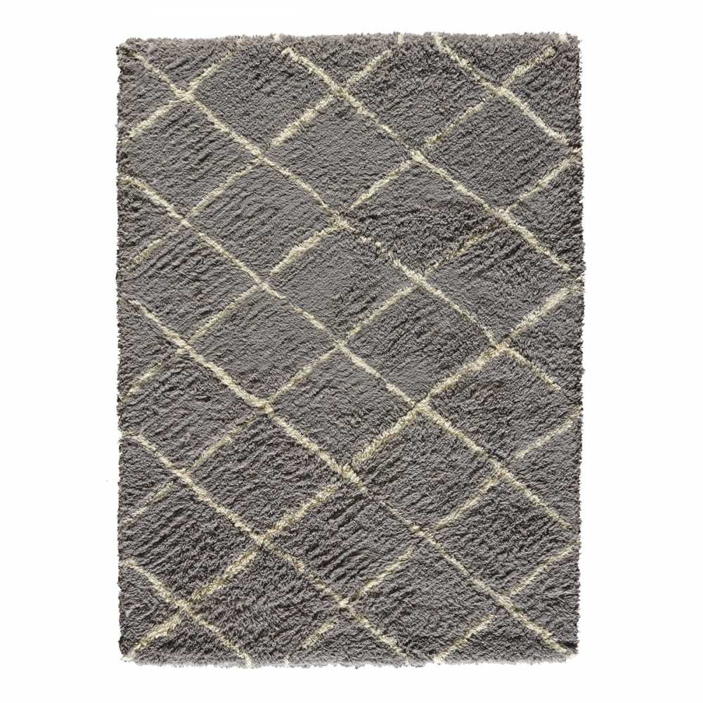 tapis sur mesure gris en laine motifs berb res beiges zagora par angelo. Black Bedroom Furniture Sets. Home Design Ideas