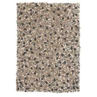 Tapis sur mesure beige avec galets en laine On the Rocks par Angelo