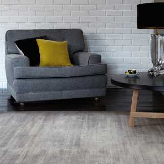 Tapis contemporain design gris en viscose