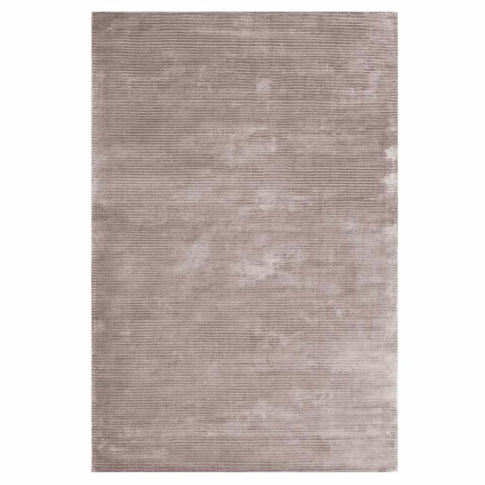 Tapis De Salon Contemporain Gris En Viscose