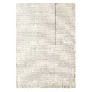 Tapis contemporain design taupe en viscose