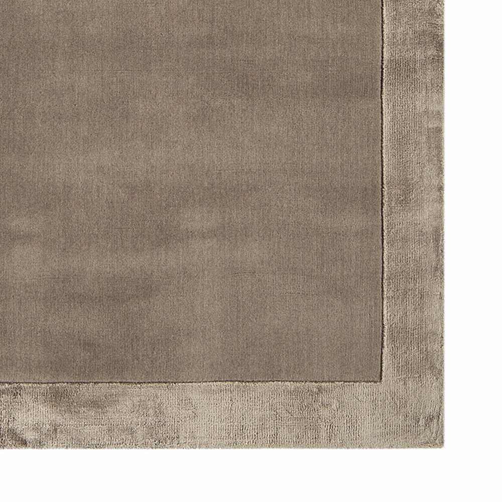 Tapis de salon design taupe en laine et viscose for Tapis de salon en laine