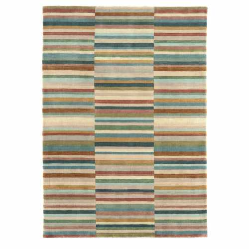 Tapis Design Graphique Multicolore Vert En Laine