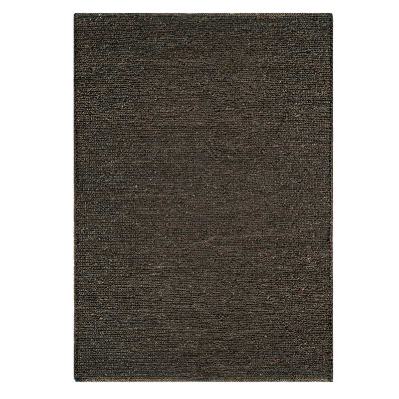 tapis naturel en jute gris fonc tiss la main. Black Bedroom Furniture Sets. Home Design Ideas
