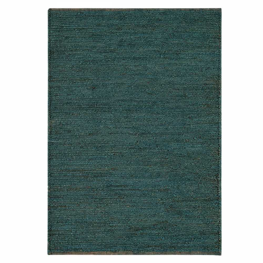 tapis naturel en jute bleu tiss la main. Black Bedroom Furniture Sets. Home Design Ideas