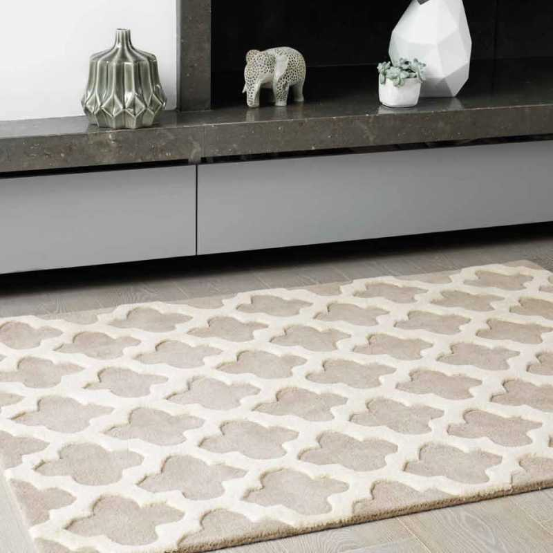 tapis haut de gamme beige et blanc cass artisan sand par joseph lebon. Black Bedroom Furniture Sets. Home Design Ideas