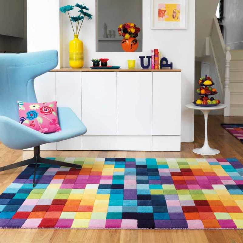 tapis haut de gamme multicolore funk par joseph lebon. Black Bedroom Furniture Sets. Home Design Ideas