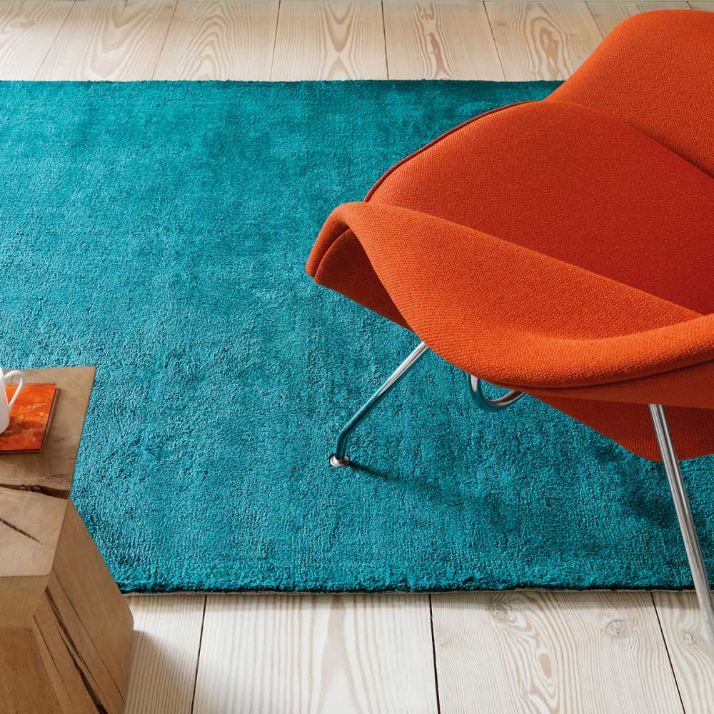 stunning tapis de salon bleu turquoise et orange ideas